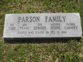 Gravestones hint at a tragedy.