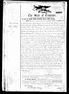 Land Purchase by Henry Pesterfield Sr. in Blount Count, TN June 13, 1809