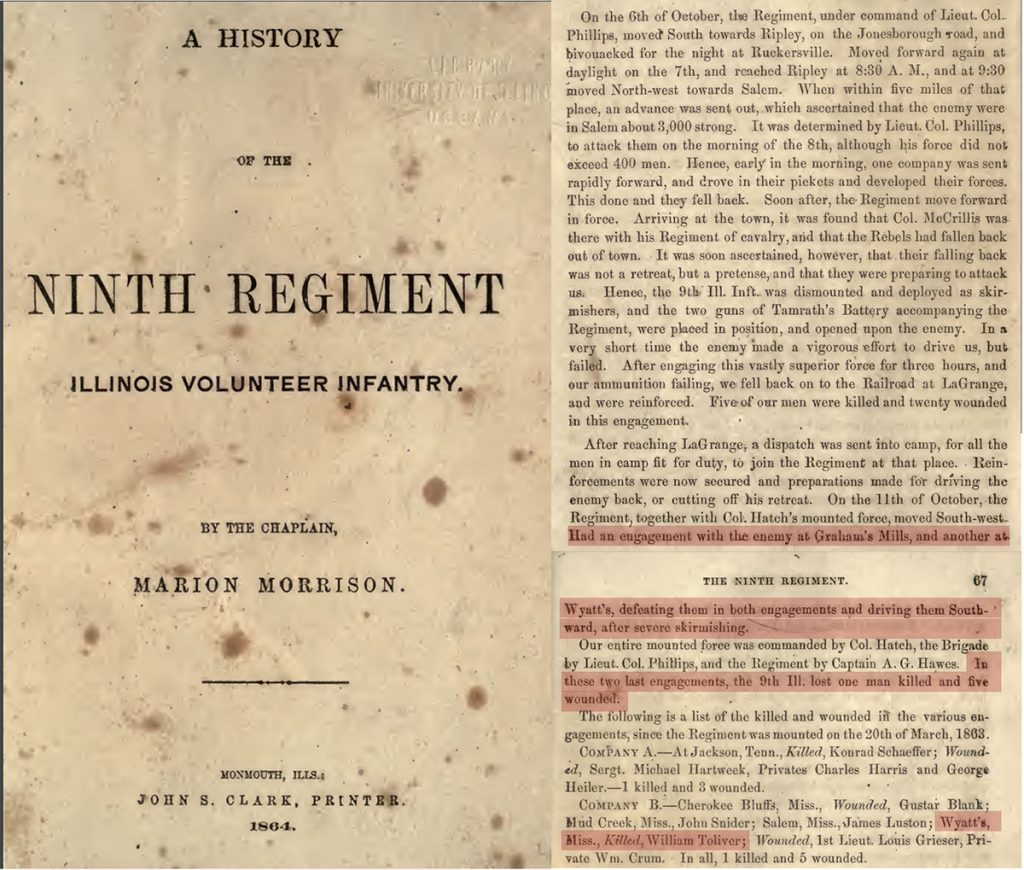 History of the 9th Regiment Illinois Volunteer Infantry